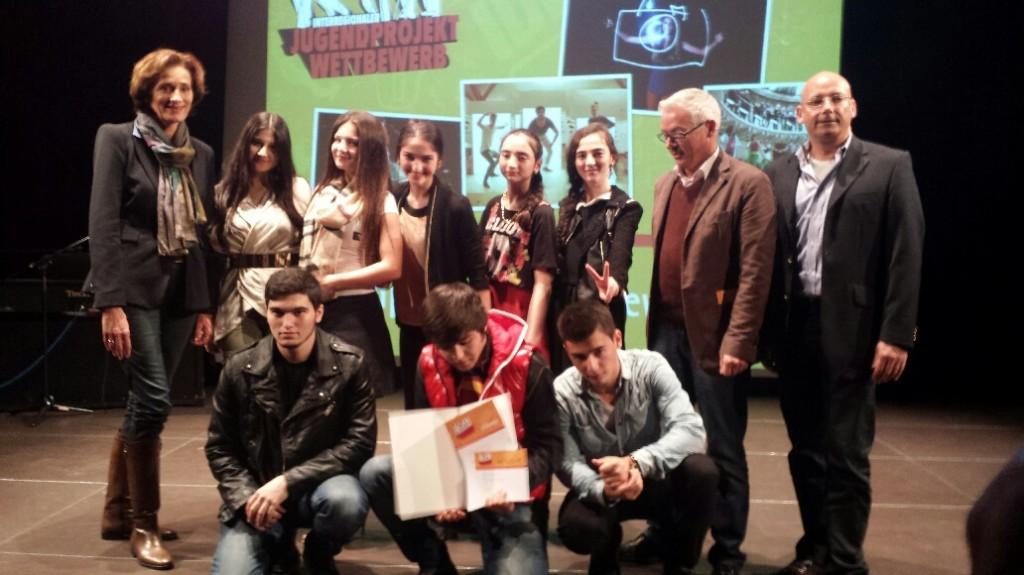 Preisverleihung Vindex New Generation Jungendprojektwettbewerb